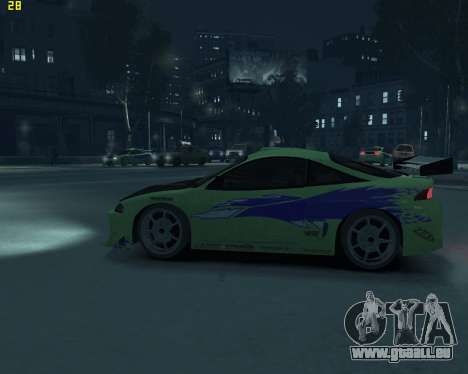 Mitsubishi Eclipse from Fast and Furious pour GTA 4 est une gauche
