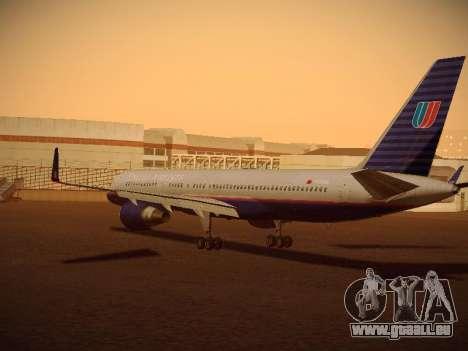 Boeing 757-224 United Airlines für GTA San Andreas zurück linke Ansicht
