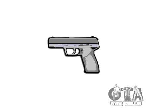 Pistolet Taurus 24-7 titane icon3 pour GTA 4 troisième écran