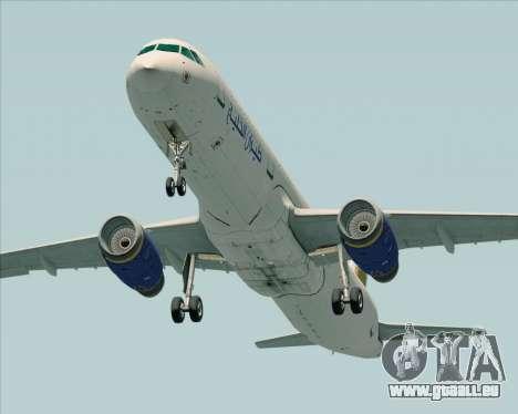 Airbus A321-200 Gulf Air für GTA San Andreas rechten Ansicht