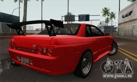 Nissan Skyline GT-R32 pour GTA San Andreas laissé vue