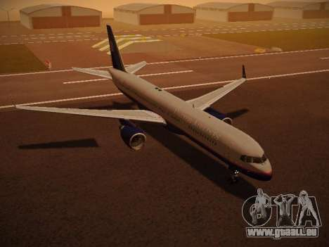 Boeing 757-224 United Airlines pour GTA San Andreas salon