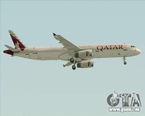 Airbus A321-200 Qatar Airways für GTA San Andreas Räder