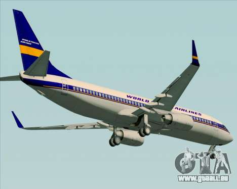 Boeing 737-800 World Travel Airlines (WTA) pour GTA San Andreas vue intérieure