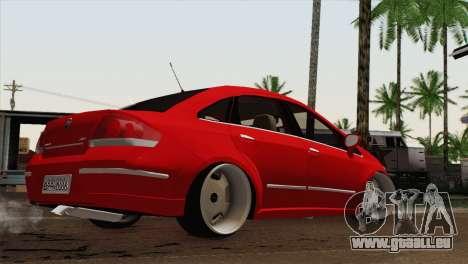 Fiat Siena pour GTA San Andreas laissé vue