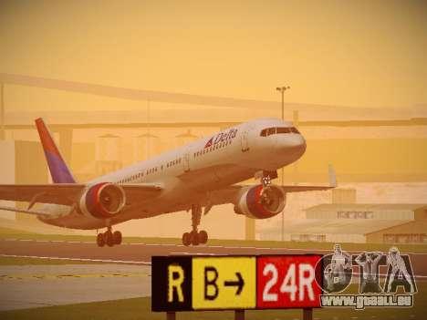 Boeing 757-232 Delta Airlines pour GTA San Andreas laissé vue