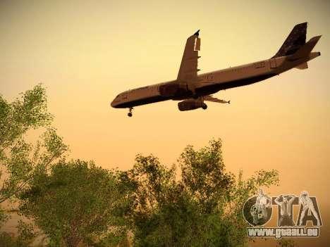 Airbus A321-232 Lets talk about Blue pour GTA San Andreas vue arrière