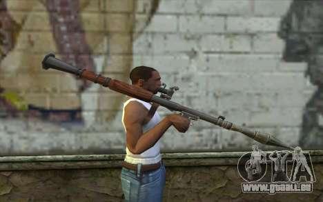 РПГ-7В von Battlefield: Vietnam für GTA San Andreas dritten Screenshot
