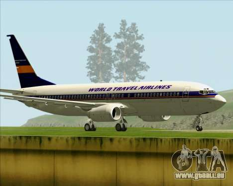 Boeing 737-800 World Travel Airlines (WTA) für GTA San Andreas rechten Ansicht