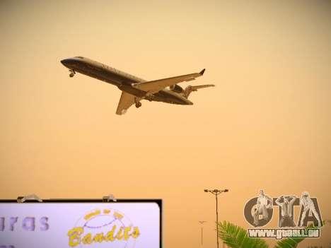 Bombardier CRJ-700 United Express pour GTA San Andreas vue de dessus
