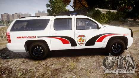 Chevrolet Suburban 2008 Police [ELS] Red & Blue pour GTA 4 est une gauche