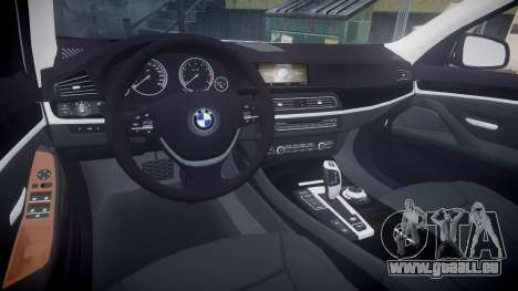BMW 530d F11 Ambulance [ELS] pour GTA 4 est une vue de l'intérieur