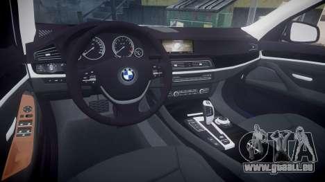 BMW 530d F11 Metropolitan Police [ELS] SEG für GTA 4 Rückansicht