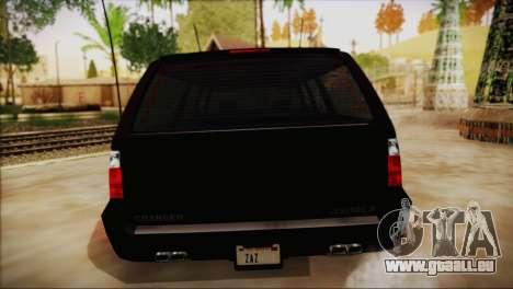 GTA 5 FIB Granger pour GTA San Andreas vue de droite