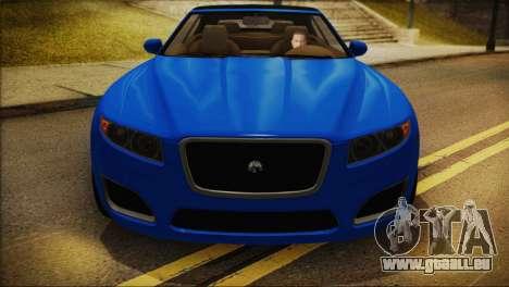 Lampadati Felon GT (IVF) pour GTA San Andreas sur la vue arrière gauche