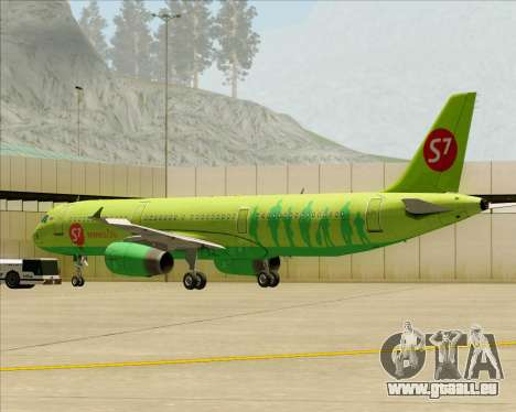 Airbus A321-200 S7 - Siberia Airlines pour GTA San Andreas moteur