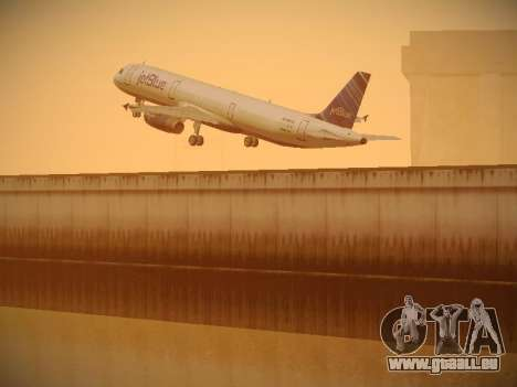 Airbus A321-232 jetBlue Red White and Blue für GTA San Andreas obere Ansicht