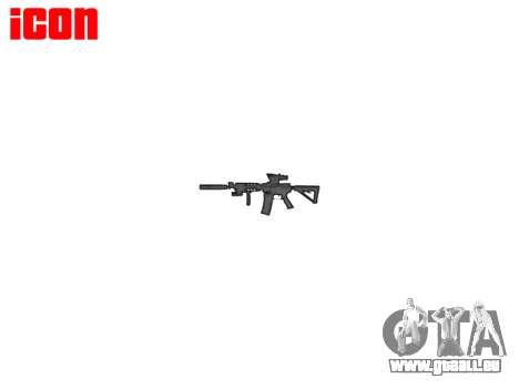 Machine Tactique M4A1 CQB cible pour GTA 4 quatrième écran