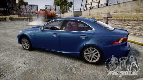 Lexus IS 350 F-Sport 2014 Rims1 für GTA 4 linke Ansicht