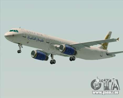 Airbus A321-200 Gulf Air für GTA San Andreas linke Ansicht