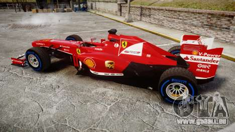 Ferrari F138 v2.0 [RIV] Alonso TFW für GTA 4 linke Ansicht