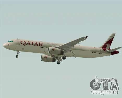 Airbus A321-200 Qatar Airways für GTA San Andreas Seitenansicht