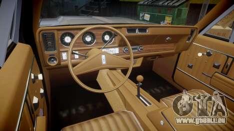 Oldsmobile Vista Cruiser 1972 Rims2 Tree2 pour GTA 4 Vue arrière
