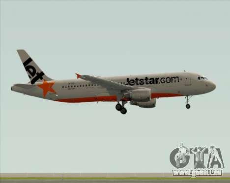Airbus A320-200 Jetstar Airways pour GTA San Andreas sur la vue arrière gauche