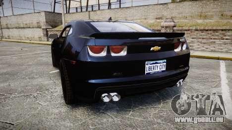 Chevrolet Camaro ZL1 für GTA 4 hinten links Ansicht