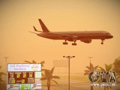 Boeing 757-224 United Airlines für GTA San Andreas Rückansicht