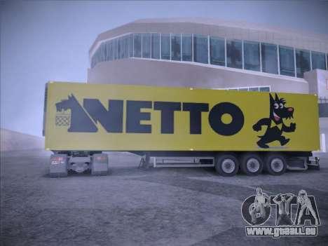 Trailer NETTO pour GTA San Andreas vue arrière