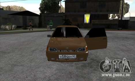 VAZ 2113 pour GTA San Andreas sur la vue arrière gauche