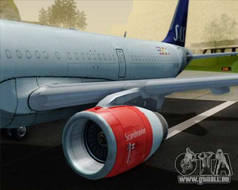 Airbus A321-200 Scandinavian Airlines System pour GTA San Andreas moteur