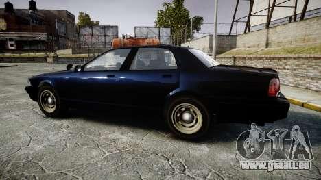 GTA V Vapid Cruiser Police Unmarked [ELS] Slick für GTA 4 linke Ansicht