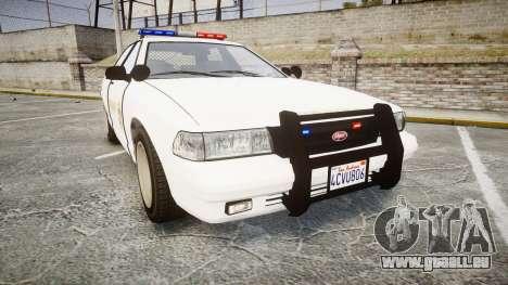 GTA V Vapid Cruiser LSS White [ELS] pour GTA 4