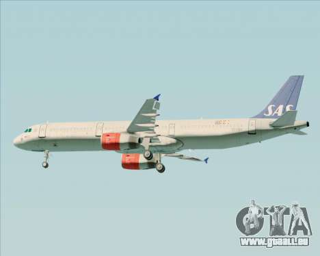 Airbus A321-200 Scandinavian Airlines System für GTA San Andreas Räder