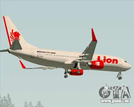 Boeing 737-800 Lion Air pour GTA San Andreas vue arrière
