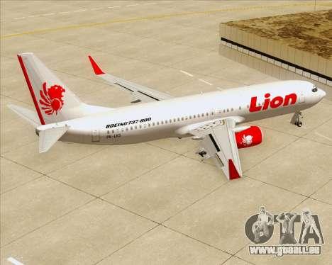 Boeing 737-800 Lion Air für GTA San Andreas Innen
