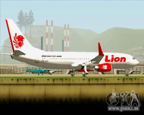 Boeing 737-800 Lion Air für GTA San Andreas obere Ansicht