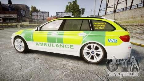 BMW 530d F11 Ambulance [ELS] pour GTA 4 est une gauche