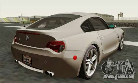 BMW Z4M Coupe 2008 Stock für GTA San Andreas linke Ansicht
