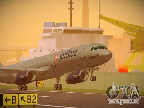 Airbus A321-232 jetBlue Boston Red Sox pour GTA San Andreas laissé vue