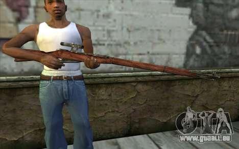 Die Gewehre Mosin (Battlefield: Vietnam) für GTA San Andreas dritten Screenshot