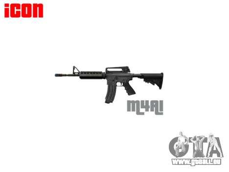 Automatische M4A1 carbine für GTA 4 dritte Screenshot