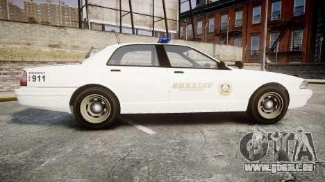 GTA V Vapid Cruiser LSS White [ELS] pour GTA 4 est une gauche