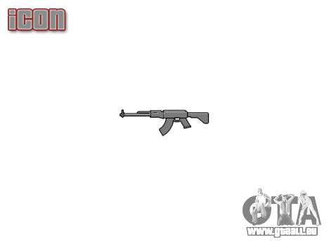 Kalachnikov modernisé (AKM) pour GTA 4 troisième écran