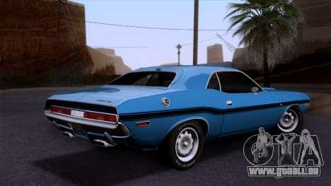 Dodge Challenger 426 Hemi (JS23) 1970 (HQLM) für GTA San Andreas linke Ansicht