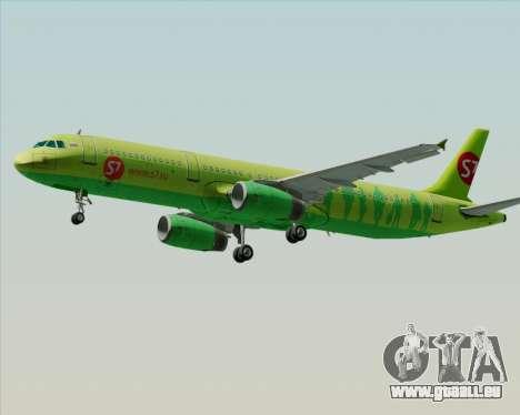 Airbus A321-200 S7 - Siberia Airlines pour GTA San Andreas vue de dessous
