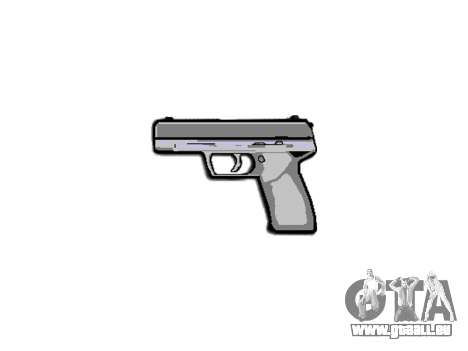Pistole Taurus 24-7 schwarz icon3 für GTA 4 dritte Screenshot