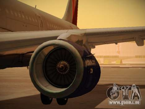 Airbus A321-232 jetBlue Boston Red Sox pour GTA San Andreas roue